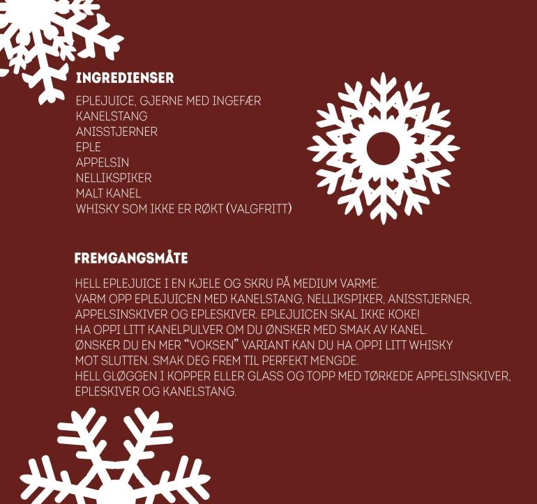 Ingredienser- Eplegløgg